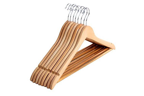 Producto mensavision - Perchas de madera blancas ...